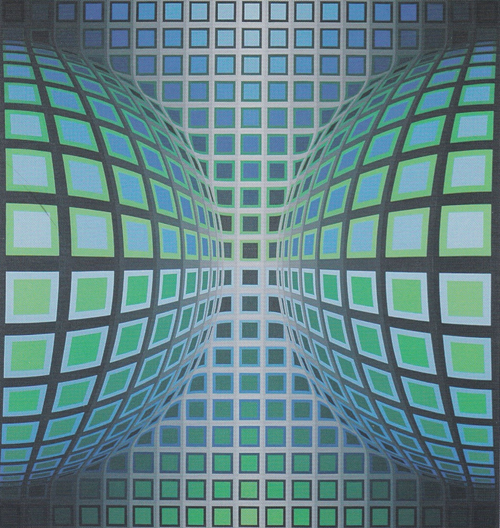 Fig. 10 - Victor Vasarely, Syta, 1988, acrilico su tela, 100 x 96 cm.,  Foto cortesia © Messmer Foundation